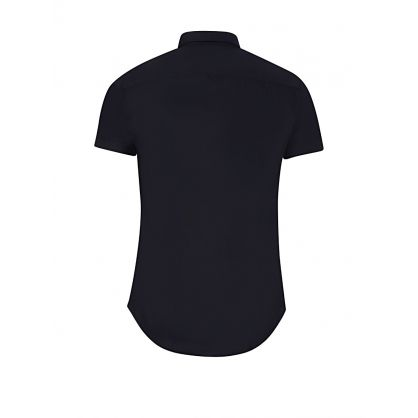 Navy Small Logo Short Sleeve Shirt