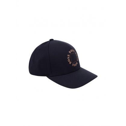 Menswear Navy Circular Logo Cap