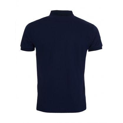Navy Slim Fit Stretch Mesh Polo