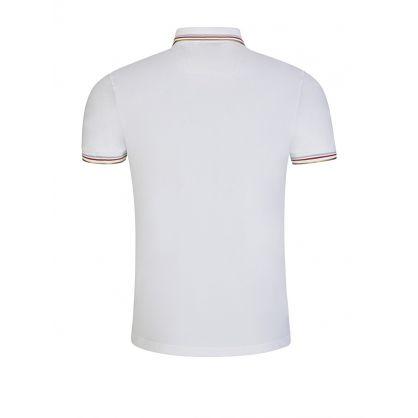Menswear White Slim-Fit Paul Curved Polo Shirt
