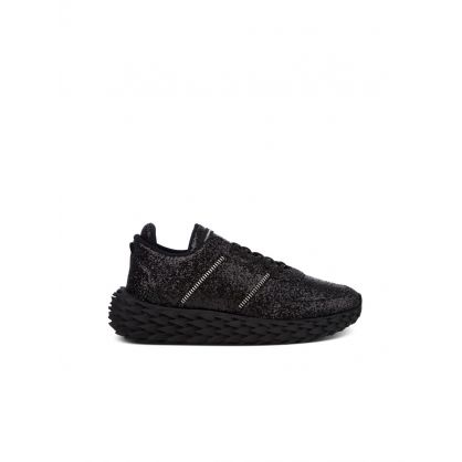 Black Low-Top Glitter Urchin Trainers
