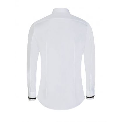 White Tape Tuxedo Shirt