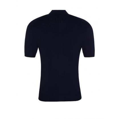 Navy Travel Techno Knit Polo Shirt