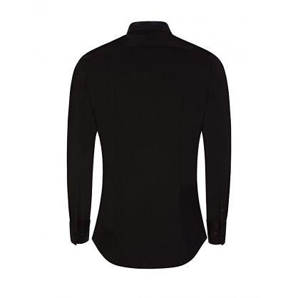 Black Tuxedo Collar Shirt