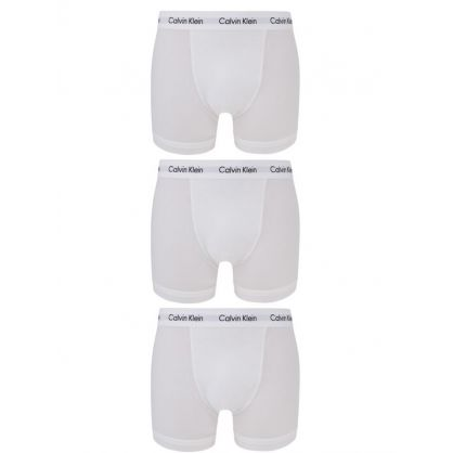 White Classic Fit Trunks 3-Pack