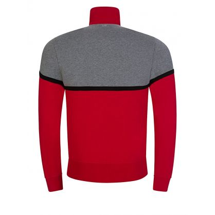 Grey/Red Zip-Through Sweatshirt