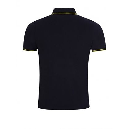 Navy Tipped Badge Polo Shirt
