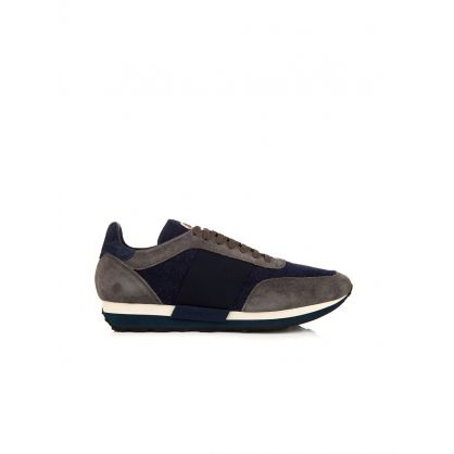Grey Horace Suede And Felt Trainer