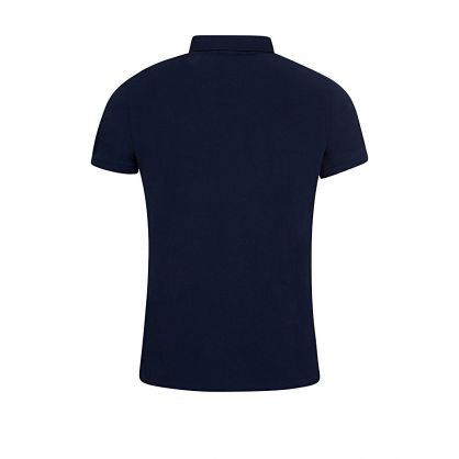 Navy Custom Slim Fit Mesh Polo