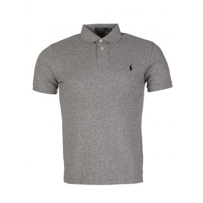 Grey Custom Slim Fit Mesh Polo