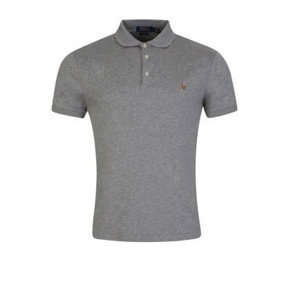Grey Slim Fit Soft-Touch Polo Shirt