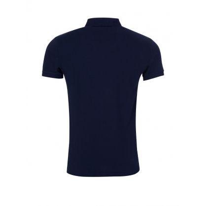 Navy Slim Fit Mesh Polo Shirt