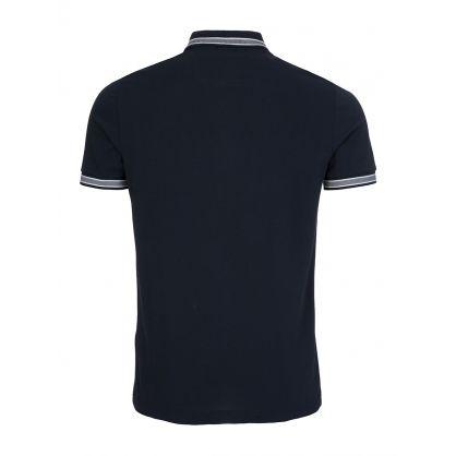 Navy Stripe Detail Polo Shirt