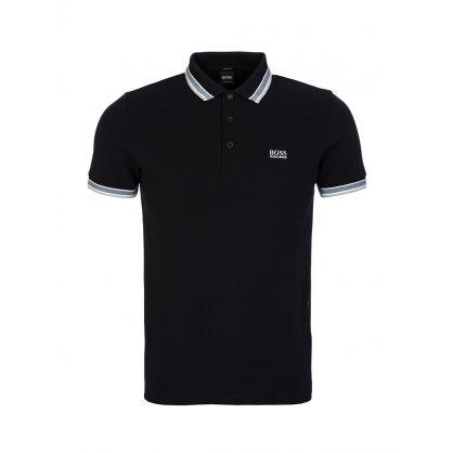 Black Stripe Detail Polo Shirt