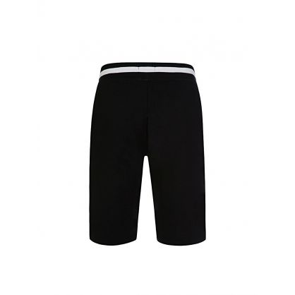 Black Stripe Band Sleep Shorts
