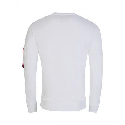 White NASA Reflective Sweatshirt