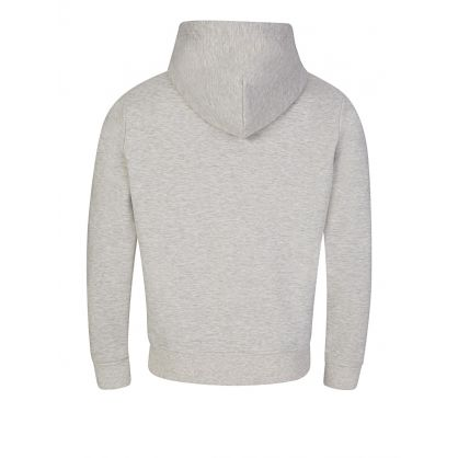 Grey Double-Knitted Full-Zip Hoodie