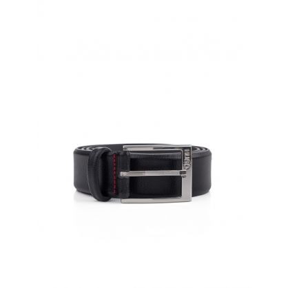 Black Gellot Leather Belt