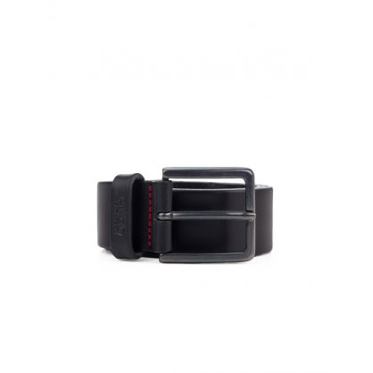 Black Gionio Leather Belt