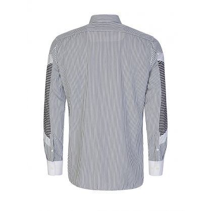 White & Grey Stripes Designer Shirt