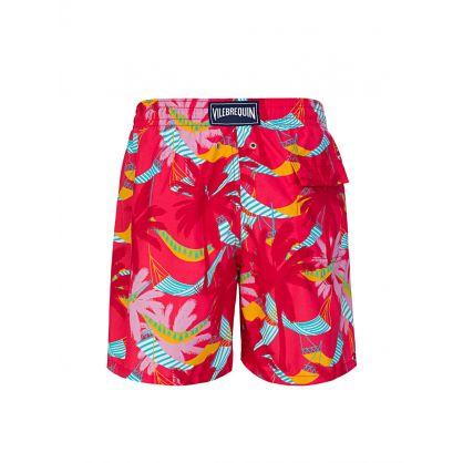 Red Ibiza Swim Shorts