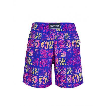 Purple Turtle Swim Shorts