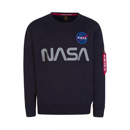 Navy NASA Reflective Sweatshirt