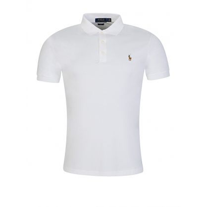 White Slim Fit Soft-Touch Polo Shirt