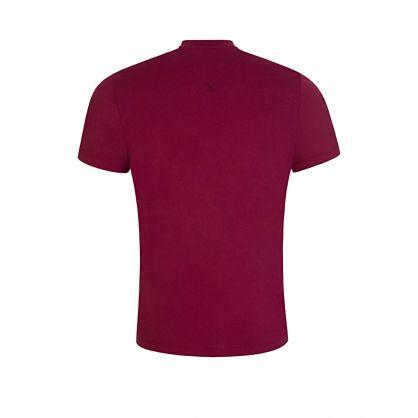 Burgundy Tiger Crest T-Shirt