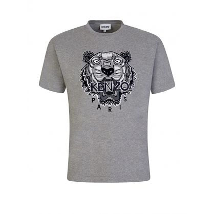 Grey Varsity Tiger T-Shirt