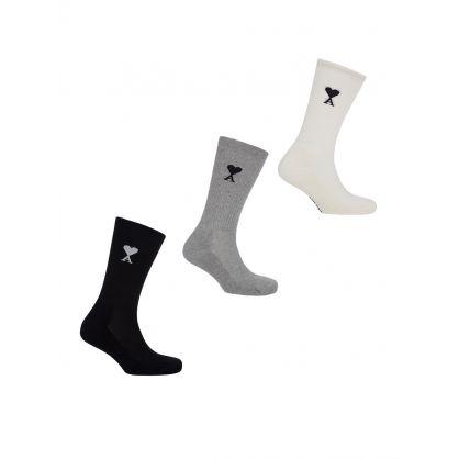 Black/Grey/Cream 3-Pack Socks