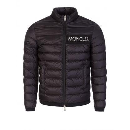 Black Neveu Down Logo Puffer Jacket