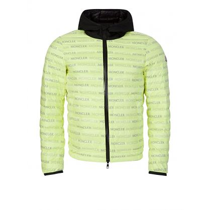 Green Hooded Logo Puffa Jacket