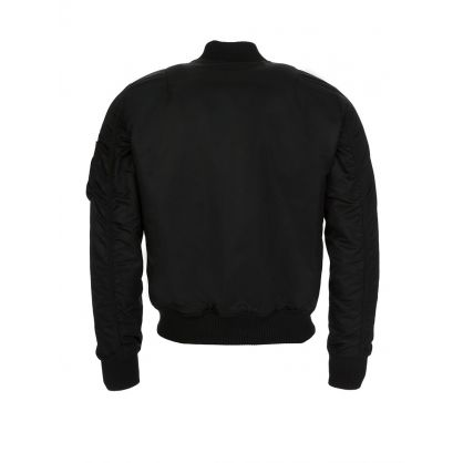 Black MA-1 Padded Bomber Jacket