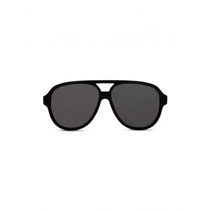 Black Logo Stripe Sunglasses