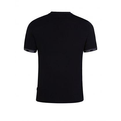 Black Logo Cuff T-Shirt