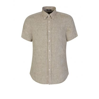 Green Daniel Linen Shirt