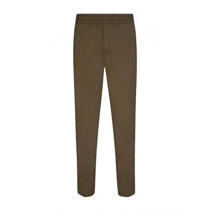 Green Elasticated Wool Ryder Trousers