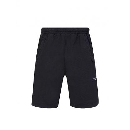 Black Reversed-Logo Shorts