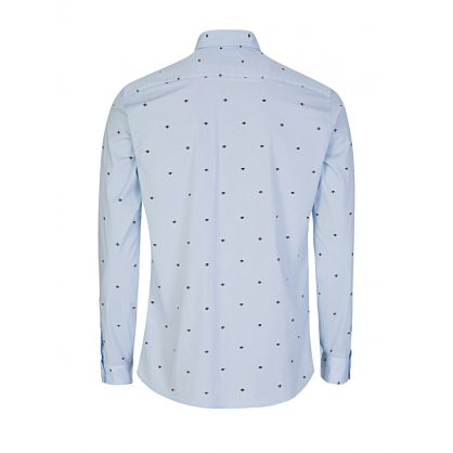 Blue Slim-Fit All-Over Eye Shirt