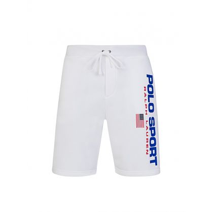 Polo Sport Ralph Lauren White Jersey Shorts