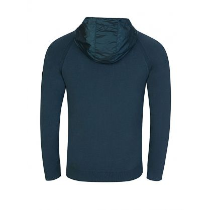 Green Albie Baffle Zip-Through Hoodie