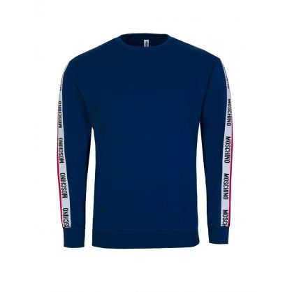Blue Logo Tape Sweatshirt
