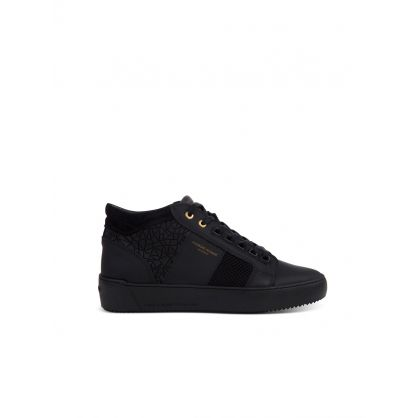 Black Propulsion Mid Mosaic Trainers