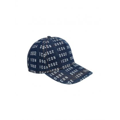 Blue DSQ2 Denim Logo Cap