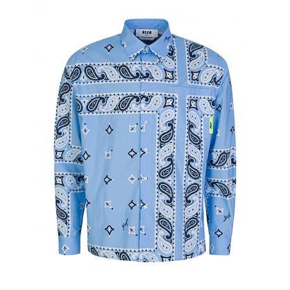 Blue Signature Bandana Shirt