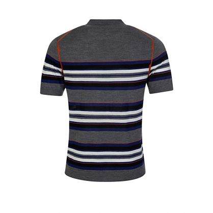 Charcoal Multi Stripe Polo Shirt