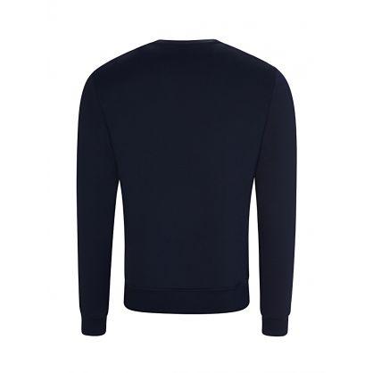Navy Logo-Zip Sweatshirt