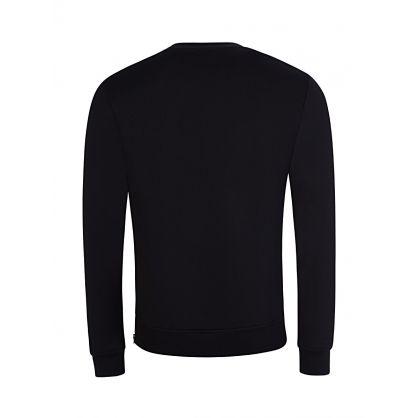 Black Logo-Zip Sweatshirt