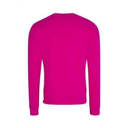Pink Logo-Zip Sweatshirt